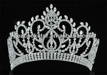 "Wholesale Vintage Style Pageant Tall 4.5"" Tiara Full Circle Round Crystal Crown CT1724"