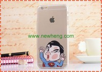 Hot Sale Cartoon Face Hit The Glass Funny Tpu Case For iphone 6