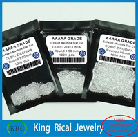 Factory price white round cubic zirconia gems 8 hearts and 8 arrows cut cz gems