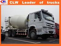 Factory direct sale HOWO 6*4 concrete mixing tank truck 10 wheler concrete mixer 6*4 bunker tanker