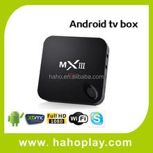 High performance xbmc/kodi amlogic android 4.4 , Quad core Smart tv box android