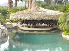 Gazebo material del techo de palma artificial deja teja plástica al aire libre