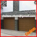 China madera de grano automático de la puerta del garaje, puerta de garaje seccional