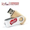 Swivel Twister USB in Wood Material 8GB Memory Stick in Bulk Logo Print