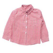 Sping del otoño largo de la manga de los bebés varones de Kindergarten Wear Red POLO de algodón a cuadros ropa orgánica para niños