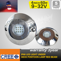 60W Red Stainless Steel Underwater Boat Marine Fishing LED Light IP68 BL-60WR