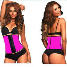 2015 New Arrival High Quality Sexy Latex Rubber Waist Training Corset Slimming Under bust Corset Body Shaper