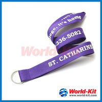 Promotion custom cheap polyester lanyard for sale