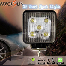 Spot offroad led lights 4x4 15W Offroad Driving Work Flood /spot beam car 15W led spot work light offroad 12v for track tractor
