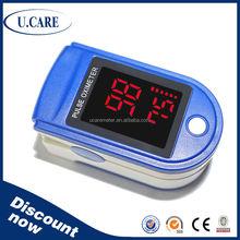 SPO2 PR big LED display digital oximeter, pulse oximeter with temperature, finger clip pulse oximeter