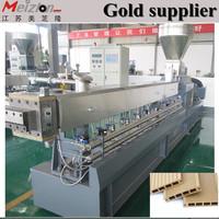 Wood plastic composite decking machine wpc extruder /plastic pellet machine extruder/wpc extruder production line