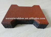 Outdoor rubber brick driveways