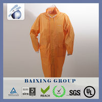 factory price OEM polyester pongee reflective safety raincoat