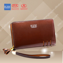 2014 hot selling brand name leather wallets genuine zipper leather wallet china products