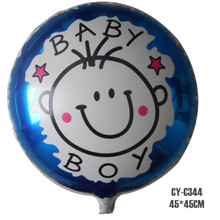 Foil Balloon Baby Boy Helium 45 * 45cm por mayor de productos Cumpleaños Party Decoration