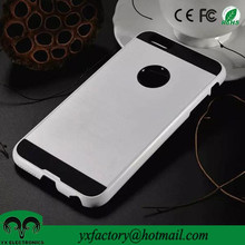 china wholesale white and black dual layer cheap hard plastic plain phone cases