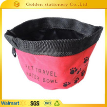 2015 waterproof 600D oxford dog water bowl waterproof bowl folding dog bowl