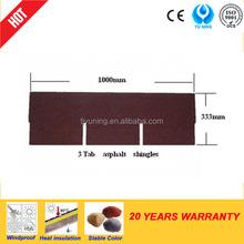 3-tab colored asphalt shingles