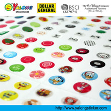 Colorful Custom Self Adhesive Big Sheet Round Epoxy Resin Sticker
