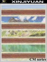 Horizontal zebra roller blinds for office use and window decor