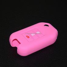Soft silicone case car key for 3 buttonremote control cover for honda