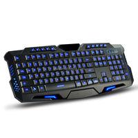 Latest ergonomic multimedia wired standard led keyboard for gamer,gamer keyboard