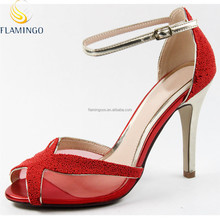 FLAMINGO 2015 LATEST ODM OEM Ankle Strap Ladies Sexy Party Shoes Newest High Heel Women Sandals Fashion Lady Dress Shoes