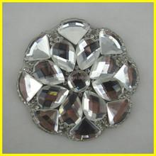 Clear Crystal Diamond Bridal Rhinestone Applique Patches Fashion Stone Patch