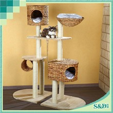 SD Eco-friendly cost saving luxury funny cat scratching toy cat tree