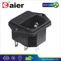 Ac dc power adapter 4 pin connector dual double male electrical plug