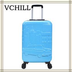 4 Wheels Plastic Trolley Hard Case Kids Luggage