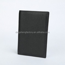 RFID blocking Genuine Leather Passport Holder Wallet Factory OEM