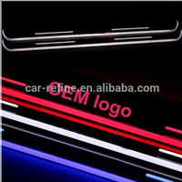 auto parts led door sill scuff plate for Mercedes Ben.z C W205 2008-2013 waterproof led moving door scuff light led pedal light
