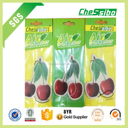 Flower shape air freshener,Cherry shape car air freshener,custom shape air fresheners