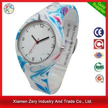 R0744 customized logo silicone jelly watch, wrist watch silicone