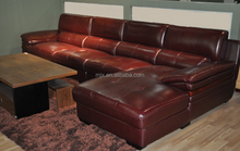 2015 top grain sofa L-shape home furniture living room sofa modern sofa