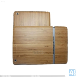 2 in 1 hybird Bamboo wood case for ipad mini, Genuine Bamboo tablet case for ipad 2/3