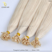 Hot Sale In China Soft Smooth Factory Supply Excellent Quality u tip prebonded rambut ekstensi