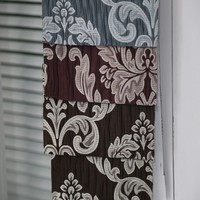 Heavy classic polyester material jacquard window curtain fabric for curtain valance