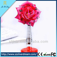 Romantic Rose shape Spring Alarm Clock Lover's Table Clock