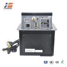 JS- 221V Multimedia Desk Pop Up Outlets For Commercial Office