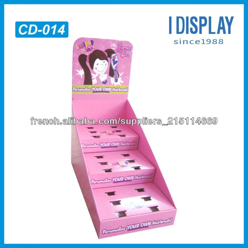 Tablette De Magasin De D 233 Tail Pr 233 Sentoir En Carton Haut Reposer Boucles D Oreilles Carton