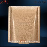 86 type golden waterproof light switch cover