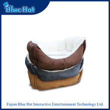 wholesale suede comfortable luxury dog bed