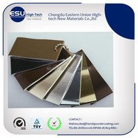 free samples Sublimation wood effect aluminium powder coating paint