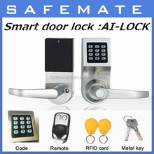 Stainless Steel Keypad Privacy Door Security Entry Lever Mortise Lock Set