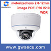 3megapixel wdr outdoor vandalproof poe ir dome cctv network ip camera