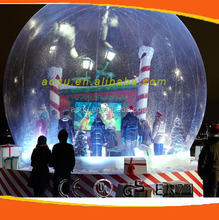 Large Christmas inflatable snow globe/giant inflate snow globe/inflatable snow globe tent