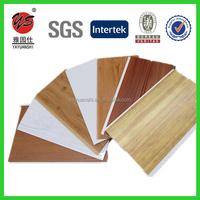laminated wooden grain design texture pvc wall panel plastic pvc panel
