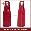 Foldable Leather one Bottle Wine Tote Bag Wine Travel Carrier,Leather Single Bottle Wine Carrier Box
